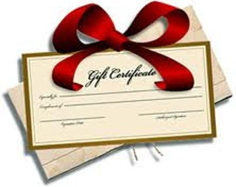 Gift Certificate for Poppy Cottage Stocking Stuffer Christmas Gift