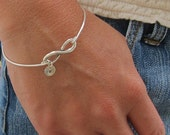 Set of 4 Bridesmaid Gift Bracelets Personalized Bridesmaid Jewelry, Initials on Infinity Bracelets, Silver or Gold Bridesmaid Bracelet Gifts