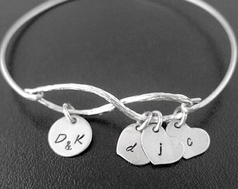 Personalized Gift for Mom from Daughter for Christmas, Family Infinity Bracelet, Family Jewelry, Sentimental Gift, Sentimental Jewelry