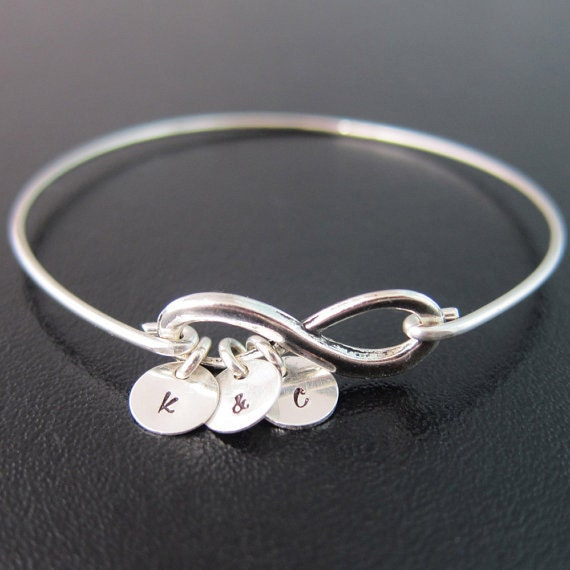 Best Friend Charm Bracelet: 3 Best Friend Bracelet Infinity Friendship By FrostedWillow