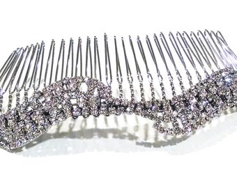 SALE - Bridal Hair Comb, Crystal Hairpiece - Silver and Crystal Wedding Comb - READY to SHIP