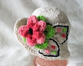 Baby Hat, Knitting Knit Baby Hat Baby Clothing Knitted Brimmed Baby Hat  Cotton Knitted Hat Flower Baby Hat Hat Newborn Baby Hat