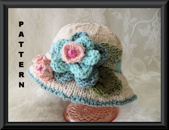 Bonnie Babies Knitting Patterns : Knitted Hat Pattern Baby Hat Pattern Newborn Hat Pattern