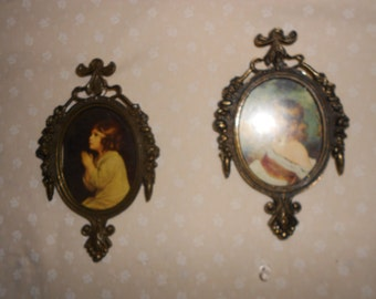 Gilded  Frame  Pictures/Portrait  Italy Made set of 2