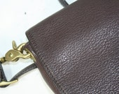 Vintage Purse Tote brown cross the shoulder supple leather long strap Libaire small
