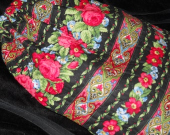 Backpack  tote bag in Beautiful roses with black background and Drawstrings Gymnastics Bag