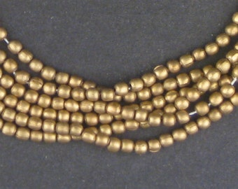260 Brass Spacer Beads - Brass Metal Tiny Melon Beads - Jewelry Making Supplies  ** (MET-OVL-BRS-136)