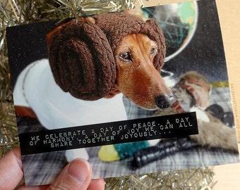CARD SINGLE Star Wars Princess Leia Life Day  Holiday Christmas Card