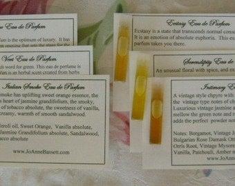 Natural Perfume Samples - Men's Eau de Perfume Sample Set - Men's Cologne- Masculine Fragrances, botanical perfume, perfume, organic, musk