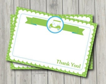 Golf Thank You Note - Preppy Golf Thank You Card - Digital Printable Thank You - Golf Theme - Instant Download
