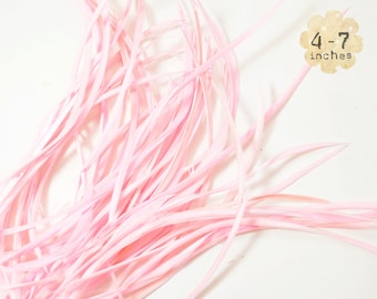 20pcs PINK Goose Biots - could be curled or ironed - premium crafts and millinery supply, fishing supply, fly tying (GB024)