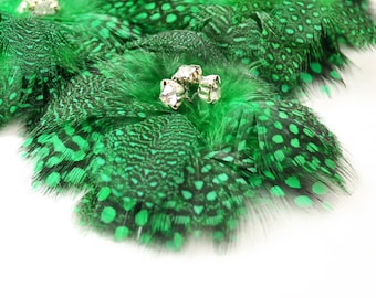 Delightful Feather Flowers - Kelly Green (1pc)