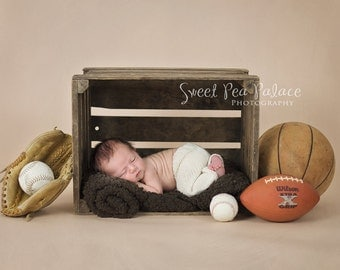 Baby Toddler Child Photography Prop Digital Backdrop for Photographers -GAME DAY Sports DIGITAL Backdrop