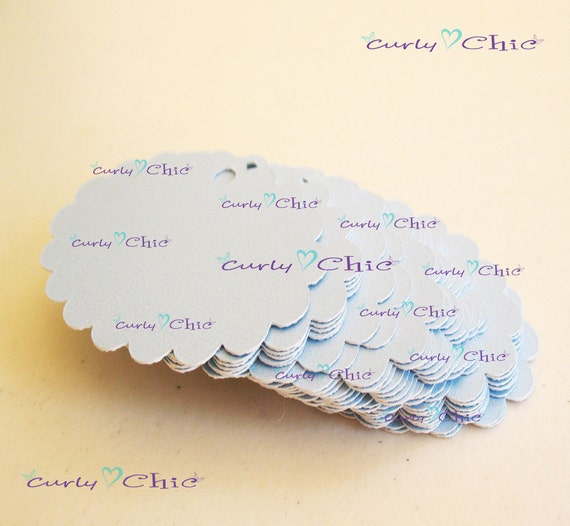 "35 Oval Scalloped 2"" Tag In Non-textured or Textured Cardstock paper"