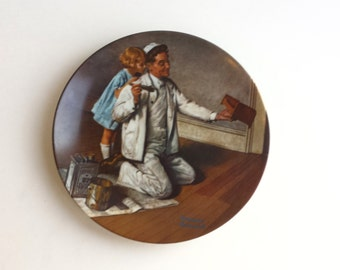 Vintage Norman Rockwell 1983 Collectors Plate The Painter