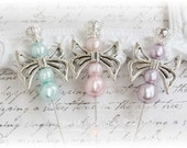 Butterfly Queen Stick Pins Scrapbooking, Cardmaking, Mini Albums, Wearables, Sewing,Baby Blue, Baby Pink, Lavender