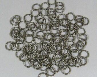 8mm Gunmetal Jump Rings