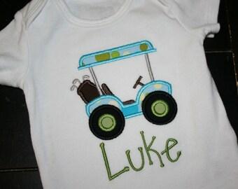Golf Bodysuit, Golf cart Baby Gift, Golf Baby, Golfing Baby, Golfing GIft, Golfing Baby Bodysuit, Golf Shower Gift, Golfcart Bodysuit, Golf