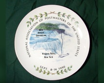 1990 National Association of Postmasters Plate / Annual Convention Post Office Plate / Postal Memorabilia Niagara Falls, New York