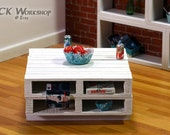 Whitewash Coffee Table  Wood Pallet Furniture for Momoko playscale diorama