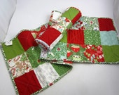 Reversible Quilted Holiday Table Runner - Christmas
