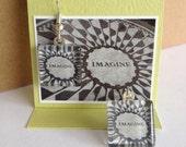 Glass Tile Photo Earrings - Imgine