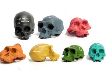 mix and match chalkboard skull collection