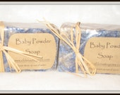 Baby Powder All Natural Handmade Soap---LARGE BAR! Elegant Scent