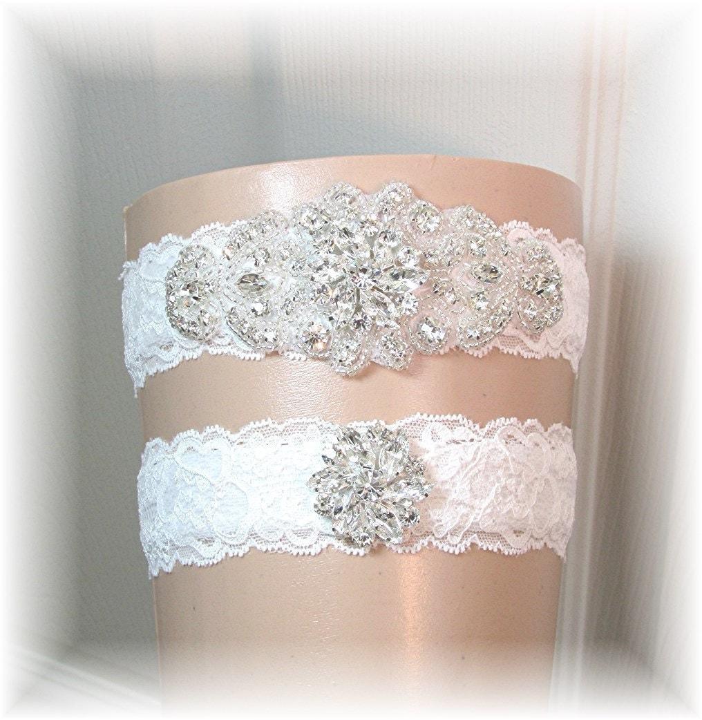 Wedding Garter Belt Set Bridal Garter Set Ivory By