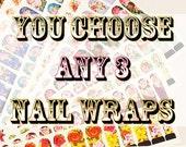 Vous choisissez n'importe quel 3 Haute High Tea Nail Wraps