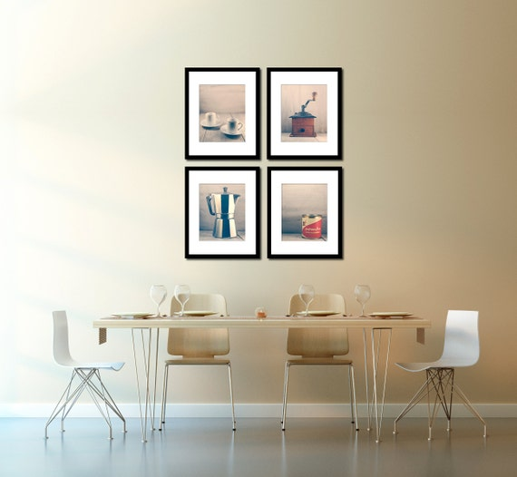 cafe wall decor coffee inspired art espresso kitchen wall. Black Bedroom Furniture Sets. Home Design Ideas