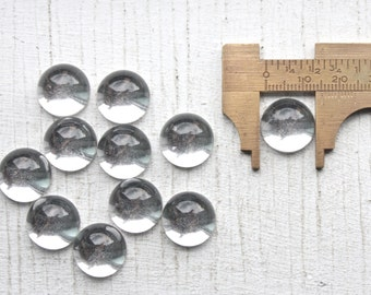 12 Vintage 1950's Clear Lucite Cabochons // 50's Craft Supply Cabochons Clear // 13mm  Ask a Question