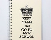 Large Law School Journal Diary Notebook Sketch Book - Keep Calm and Go To Law School - Large Journal 8.5 x 5.5 Inches - Ivory