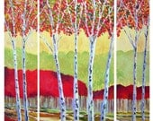 Nature in Abstract - Large Original Colorful Painting