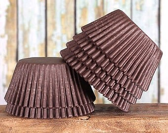 Brown Cupcake Liners, Brown Greaseproof Cupcake Liners, Brown Baking Cups, Bakery Cupcake Liners, Cupcake Wrappers, Basic Cupcake Liners