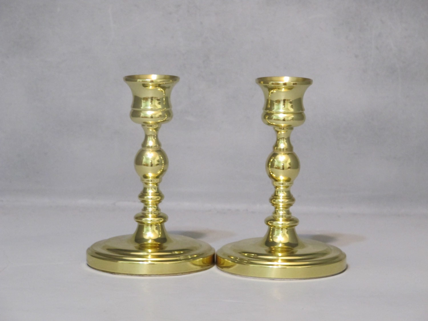 Vintage Baldwin Brass Candle Holders Set Of 2 Pair Of Small