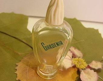 Gardenia Vintage Art Deco Perfume Glass Bottle