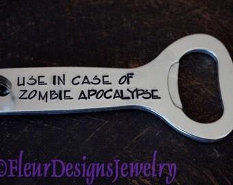 Use in Case of ZOMBIE Apocalypse- Key Chain, Zombie Key Chain