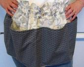 Gray Vintage-Style Pocket Apron