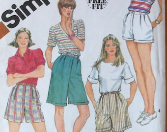 High Waisted Shorts Sewing Pattern UNCUT Simplicity 5897 Size 10