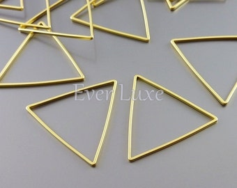 4 abstract triangle 25mm geometric pendants, triangle charms for earrings necklaces, jewelry findings 935-MG-25 (matte gold, 25mm, 4 pieces)