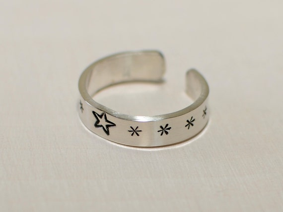 Sterling silver toe ring for the stars