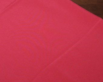 Red Lining Fabric Silky New Old Stock 4 Yards