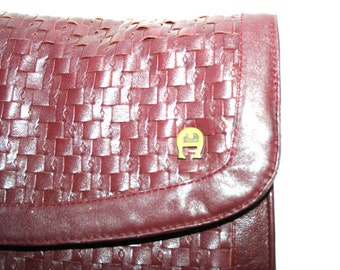 Aigner Leather Vintage Clutch