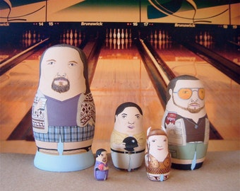 The Big Lebowski MINI Matryoshka Dolls