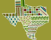 Texas Note Card Set Custom State Blank Note Card