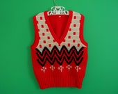 Vintage Children's Zig Zag Sweater Vest - Size 3T
