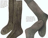 6 Knit Sock Patterns 1950 Era Instant Download Mid Century Knit Pattern