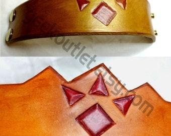 Legend of Zelda Inspired Leather Goron Heirloom Bracelet