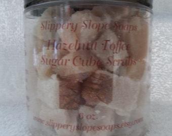 Hazelnut Toffee Sugar Cube Scrubs - 6oz